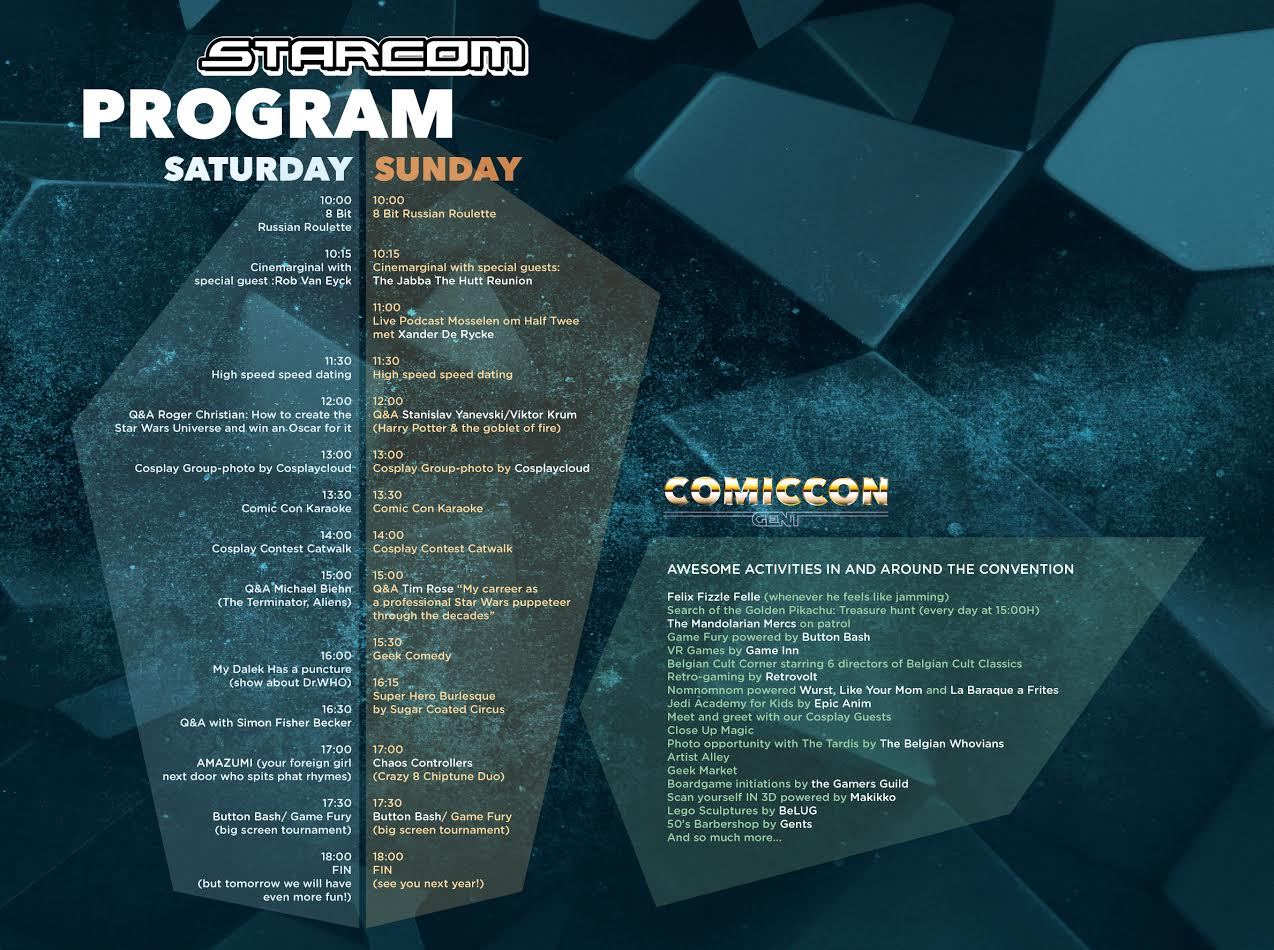 program comic con gent